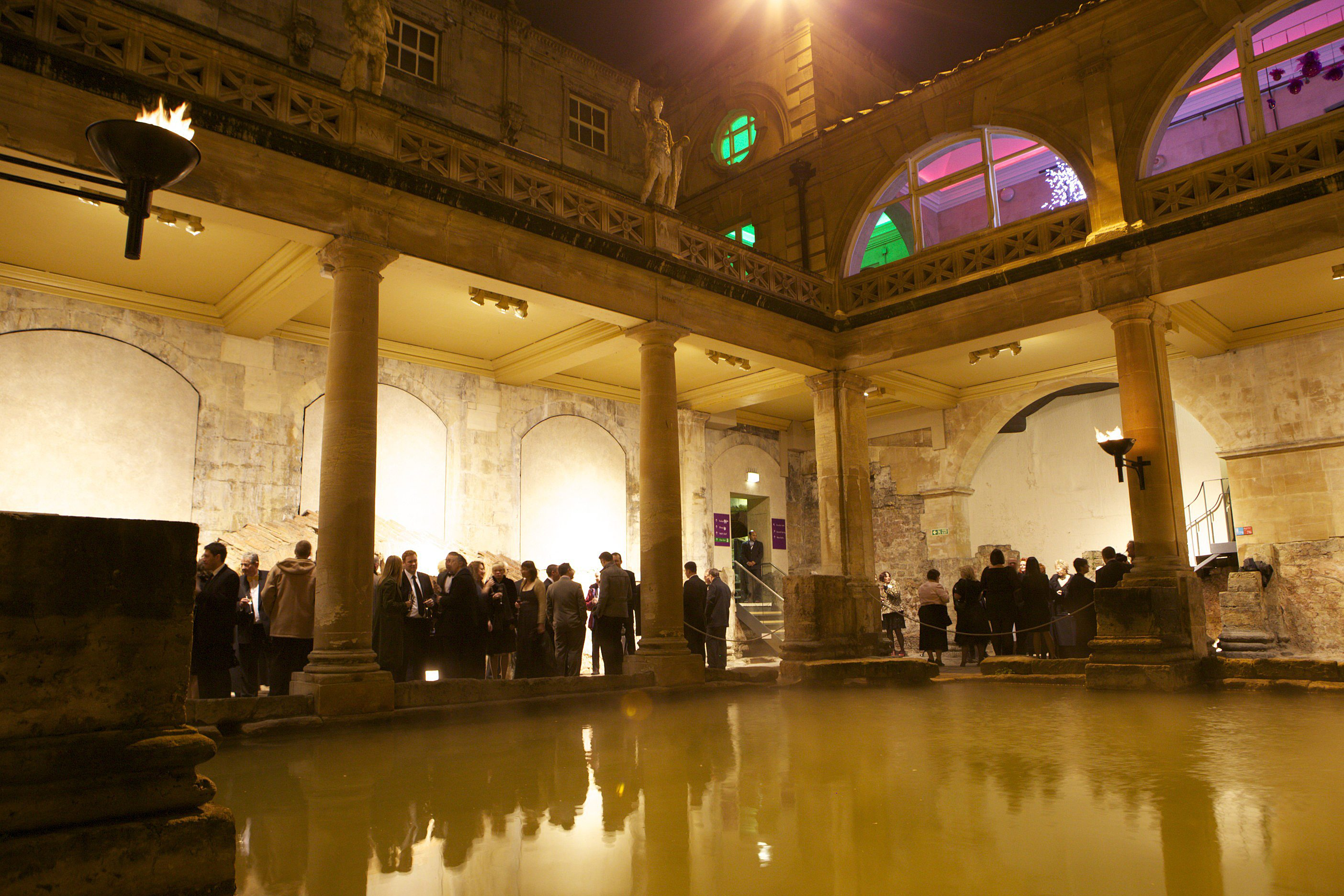 Roman baths and pump room bath venues for Terrace new year party