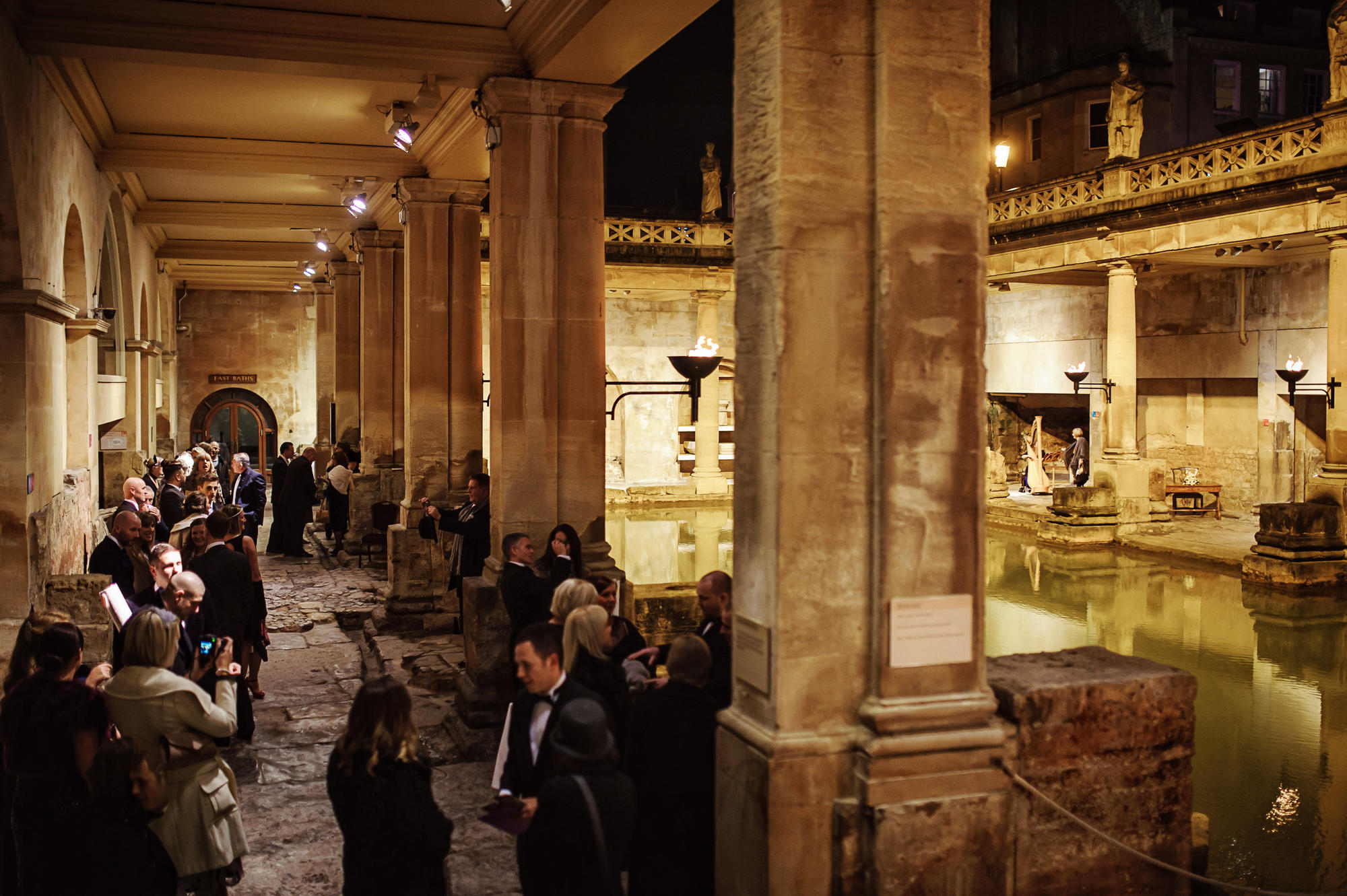 Image: Drinks at the Roman Baths