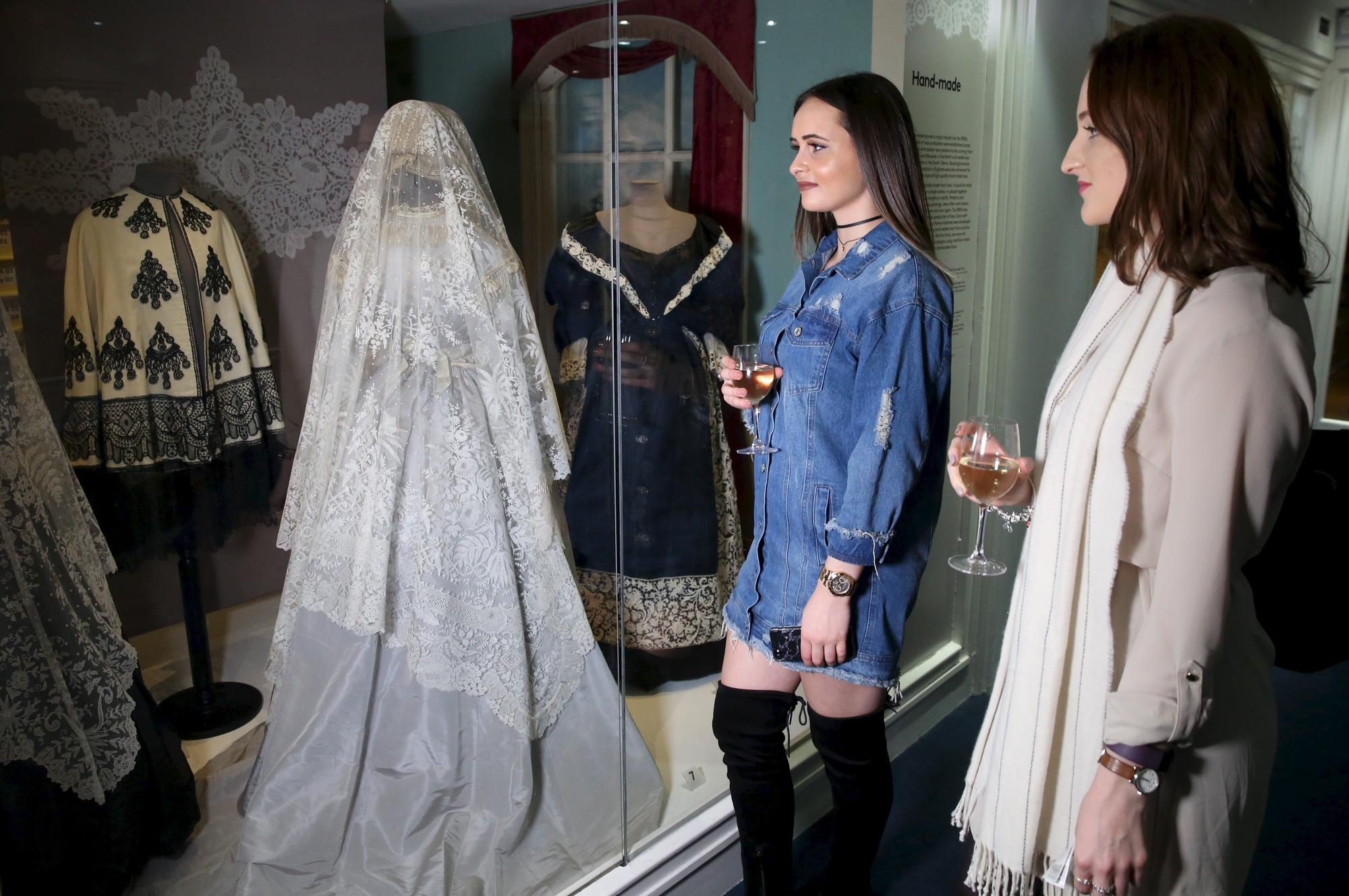 Image: Private View of Lace Exhibition