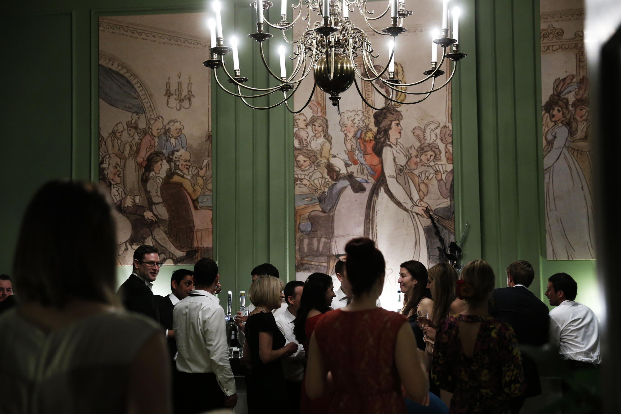 Card room drinks at the Assembly Rooms. Image, Brett Harkness.
