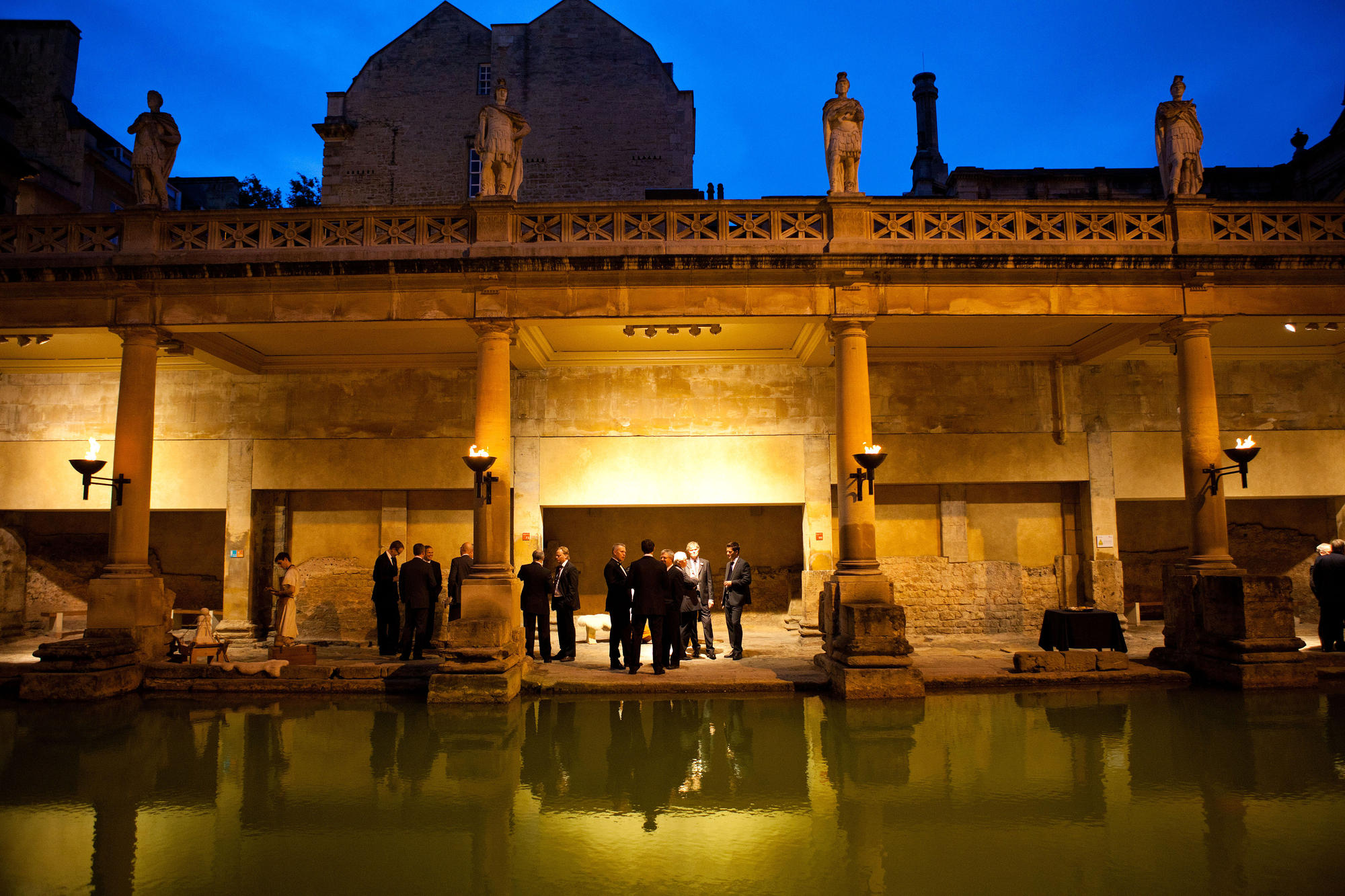 Image: Drinks reception at Roman Baths