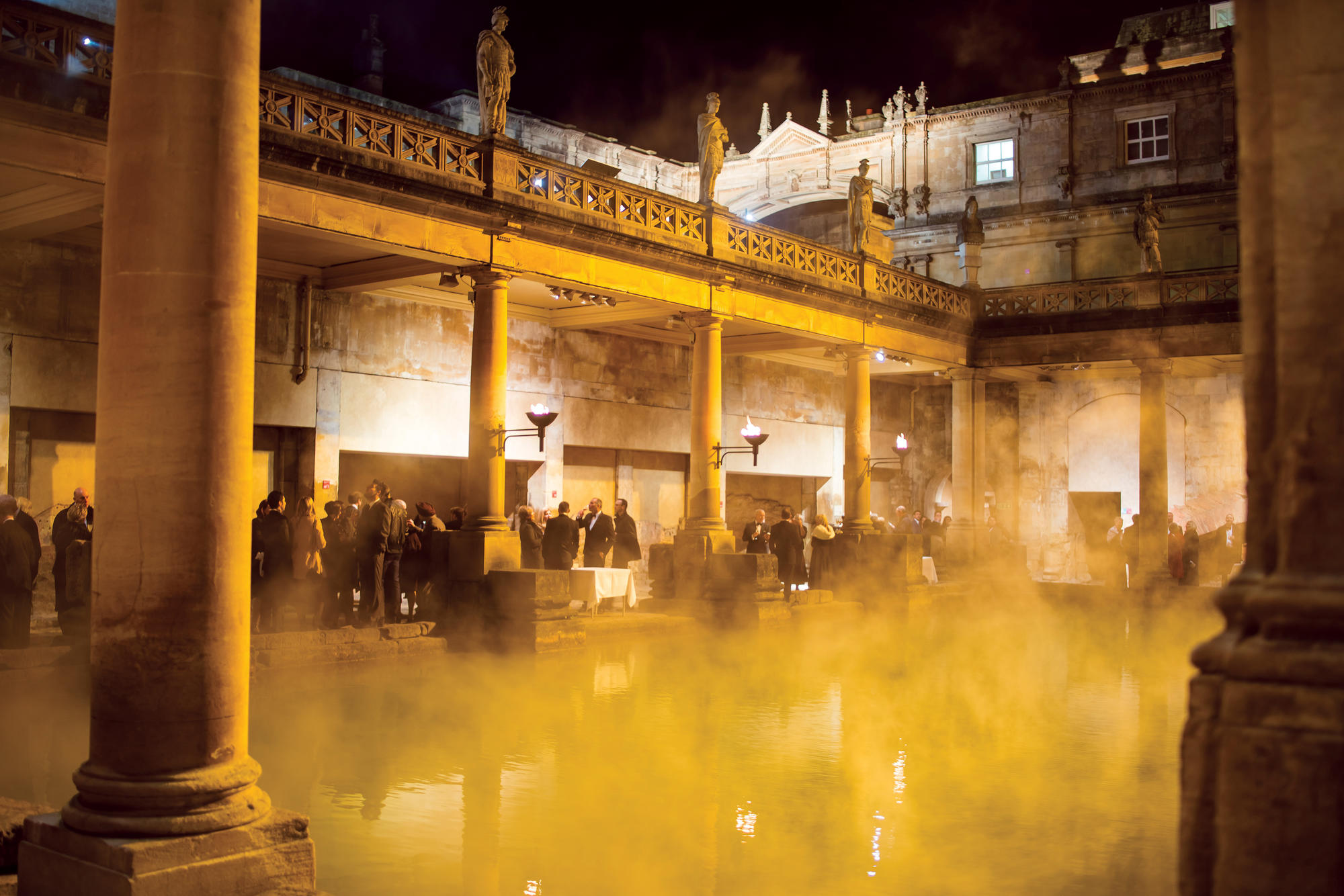Christmas party at the Roman Baths
