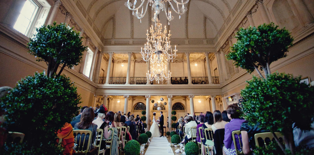 Wedding ceremony in the Tea Room, Assembly Rooms