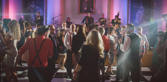 Band perform in the Banqueting Room, Greg James Photography