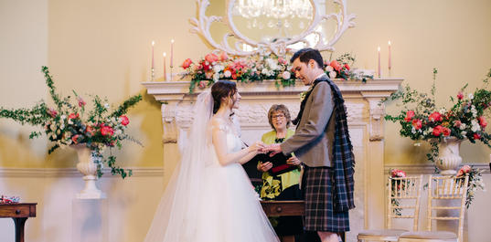 Wedding ceremony in the Great Octagon, Assembly Rooms