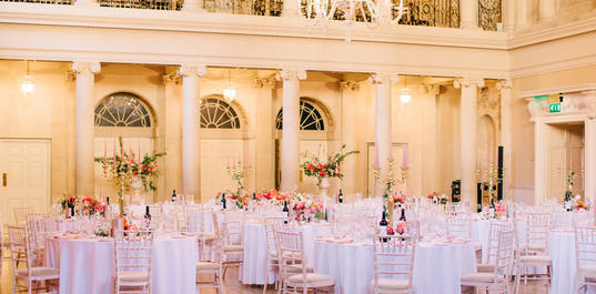 Wedding breakfast in the Tea Room, Assembly Rooms