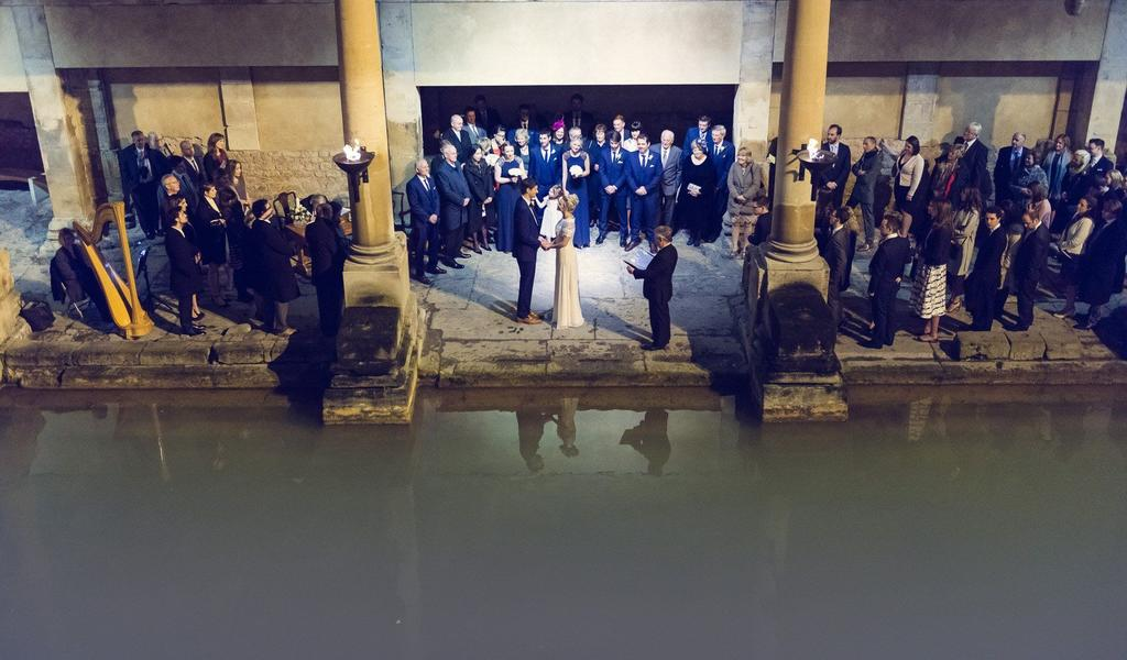 Image: Roman Baths wedding