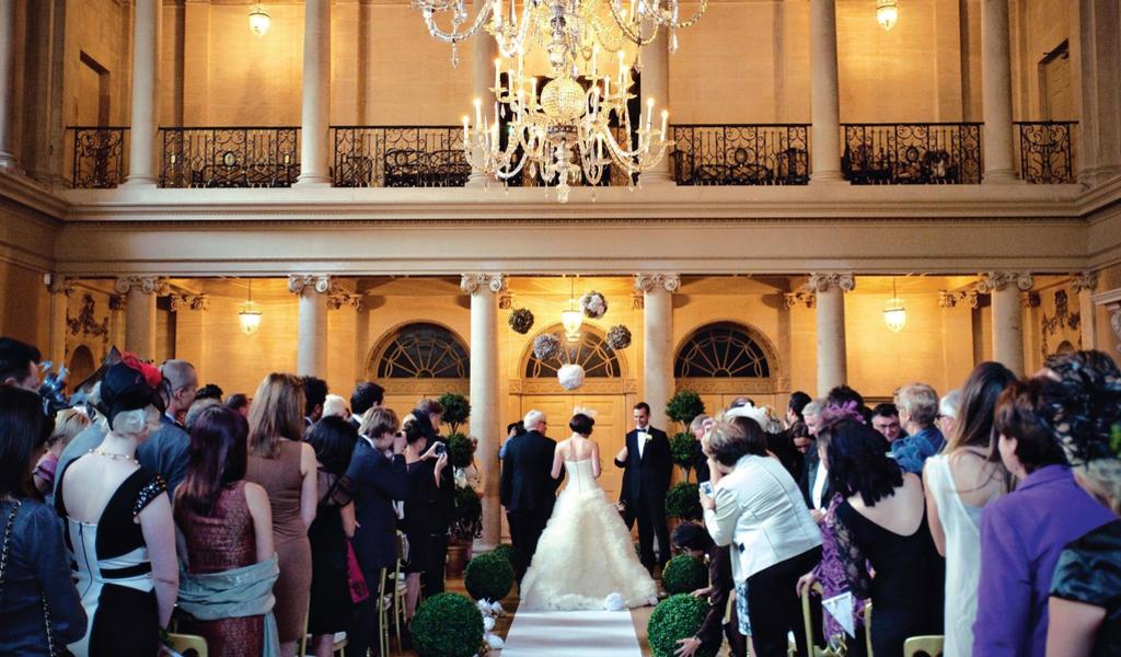 Image: Wedding ceremony in the Tea Room, Marianne Taylor Photography