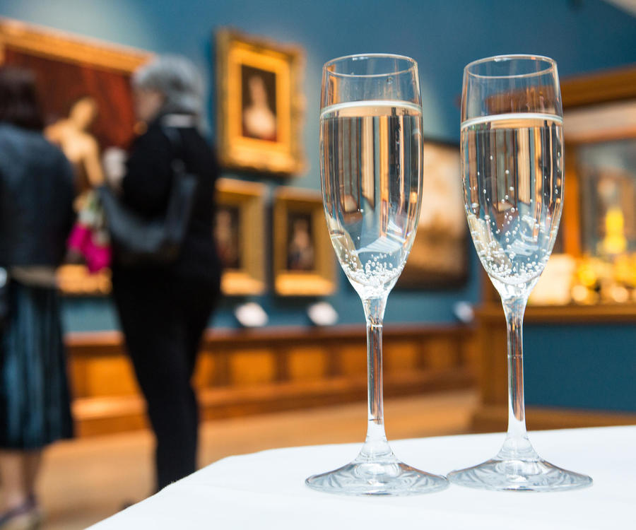 Image: Drinks at the Victoria Art Gallery