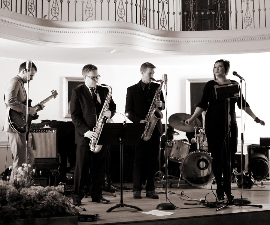 Image: Band perform in the Pump Room