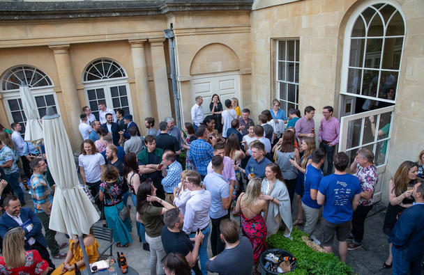Summer drinks in the Assembly Rooms, Nick Williams