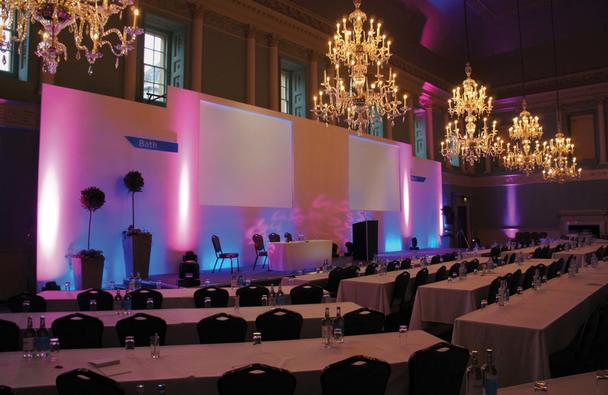 Classroom style conference in the Ball room, Julian Philpott