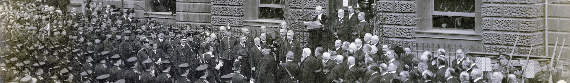 Proclamation of King George V at Guildhall 1910