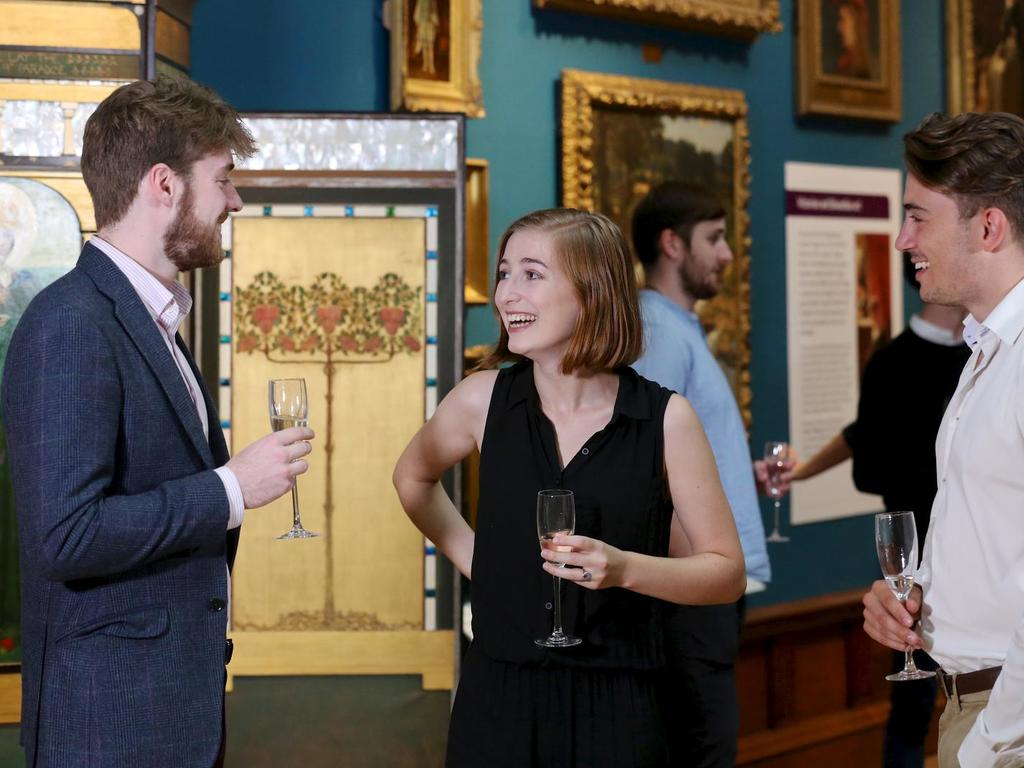 Image: Guests enjoying drinks in the Upper Gallery