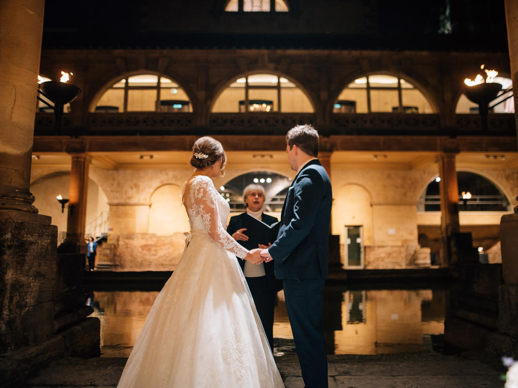 Image: wedding ceremony at the Roman Baths