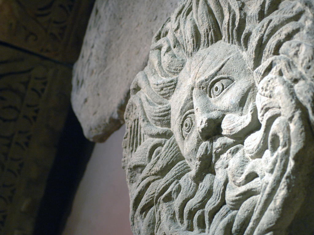 Image: Gorgon's Head of Temple Pediment