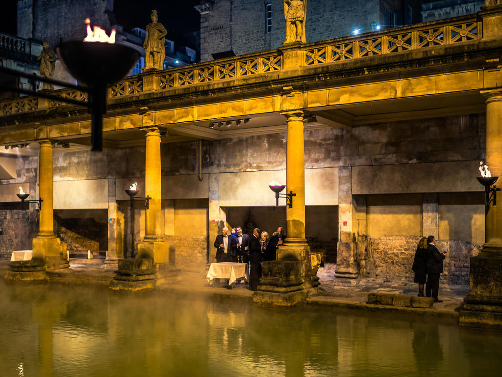 Image: Drinks reception at the Roman Baths, Paolo Ferla