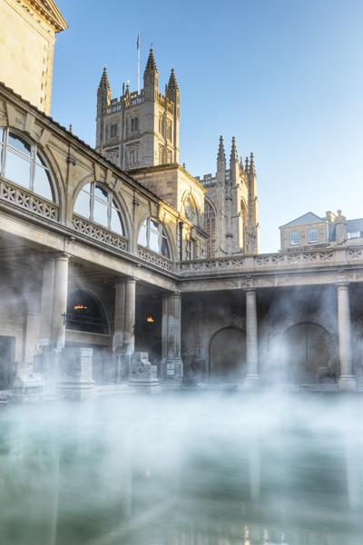 Image: Roman Baths with hot air balloon