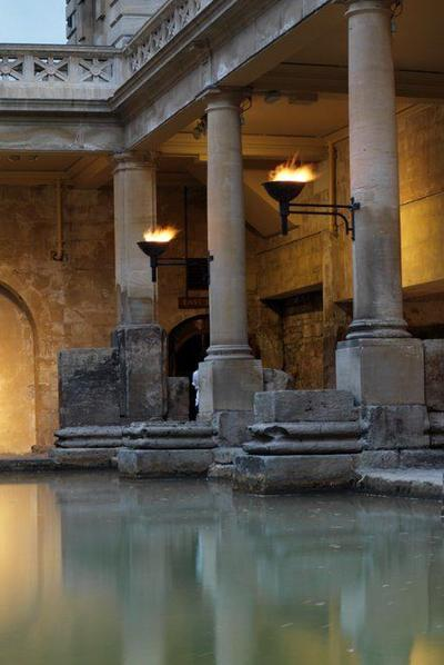 Roman Baths panoramic view