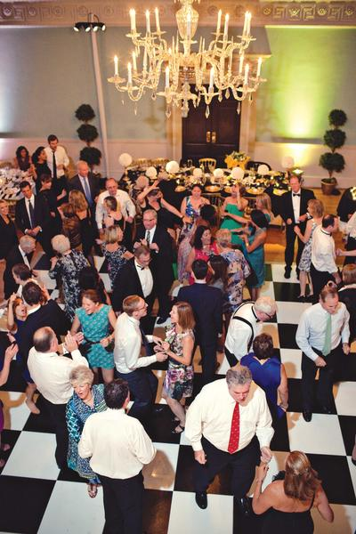 Wedding Reception in the Ball Room Image: Marianne Taylor Photography