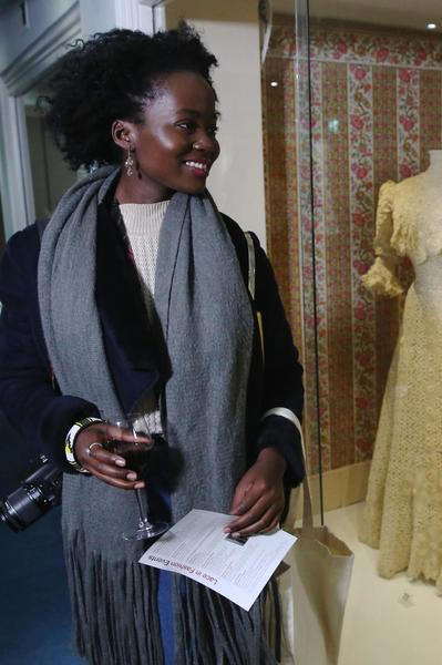 Image: Guest enjoying a private view event at the Fashion Museum