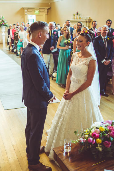 Image: Wedding ceremony in the Tea Room, Robin Kitchin Photography