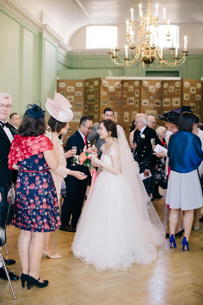 Image: Drinks reception in the Card Room, M&J Photography