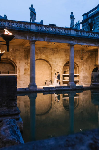 Image: Sunset Wedding ceremony at the Roman Baths, Amy Sanders