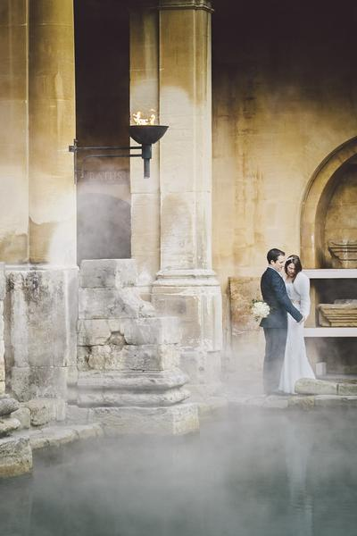 Wedding at the Roman Baths: Mark Leonard Photography