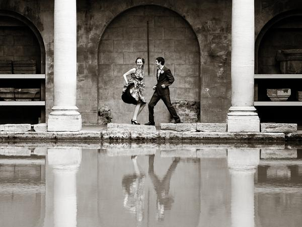 Image: Roman Baths with wedding couple