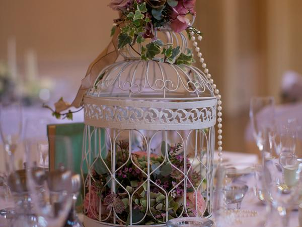 Image: floral display in the Tea Room