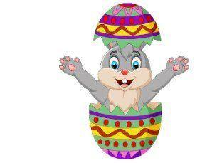 Image: Easter Egg and bunny
