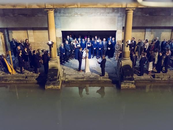 Image: Roman Baths wedding ceremony